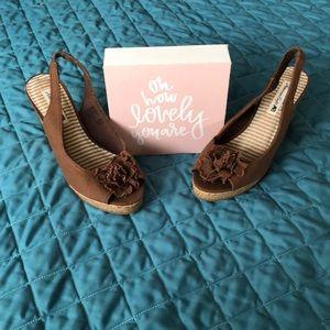 American Eagle Shoes - American Eagle wedge peep toe sandals